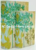 S/2/Lienzo Diseño Estilo Fresco de madera MDF Cuadro de la libreta de almacenamiento de impresión