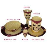 L'halloween cadeaux / partie fournitures / crâne vaisselle Set (WL8347b)
