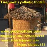 Tiki小屋のTiki棒艶出しリゾートのやし屋根ふき材料の屋根のための総合的なやし屋根ふき材料の人工的な屋根ふき材料