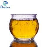 vaso di vetro del piccolo pudding 100ml con la protezione di plastica