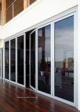 Puertas Bifold del estilo de Cornerless E del patio inferior francés de la doble vidriera
