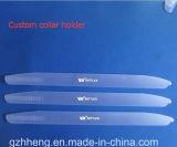 Carrinho plástico do colar da folha rígida desobstruída do PVC para acessórios do vestuário (produtos plásticos)