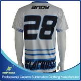 Nach Maß Sublimation-Drucken-Fußball-Hemden für Fußball-Spiel-Teams