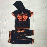 スクエア6238屋外の子供の衣服のフードとの幼児の男の子のスポーツのトラックスーツの摩耗