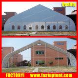 Curva de PVC aluminio carpa carpa de 500 personas de la iglesia huésped plazas