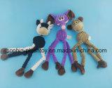 かむべき犬のためのロープが付いているペットおもちゃのプラシ天のブタ犬のおもちゃ