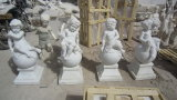 Jardín de mármol blanco/Escultura estatua de mármol/Escultura de Mármol/esculturas de piedra/Stone estatua/Angel estatua/tallado en piedra