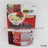 Finitura opaca trasparente sacchetto dell'alimento con la chiusura lampo