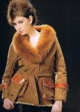 Veste avec col de fourrure de renard