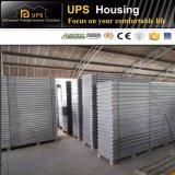 Chalet de acero de lujo permanente modular verde para la venta