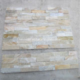 Natural Rusty Slate Placage Culture Stack Stone pour revêtement mural