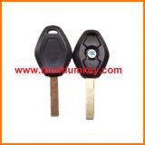2 voie lame 2 Bouton clé cas vierge shell distant avec logo 4 voie lame est disponible pour BMW Voiture de remplacement de clés brutes à distance