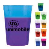 Copo de café plástico personalizado Promotinal reusável de venda quente da cor