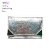 Гуанчжоу-0140 Lcq дамской сумочке заводской оптовой леди кошелек тенденция лазерный провод фиолетового цвета кожи Tri-Fold Wallet для женщин 2018 летом
