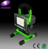Rechargebale LED 홍수 빛 10W: 노동 시간 3 시간