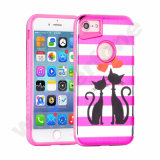 Hot Sale Pink PC Painting 2 en 1 étui hybride pour iPhone7 7plus