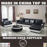 Mobília de couro pura do sofá da sala de visitas do projeto de Europa (LZ-069)
