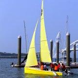 ロゴの習慣の2017新しいモデルのウォーター・スポーツのガラス繊維の航行のヨット