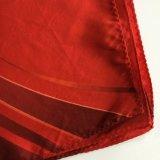 スクリーン印刷12mmの絹の方法女性のScarf Sc034流行の絹のスカーフの赤いカラー女性