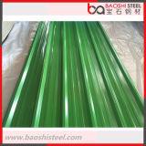 Hoja acanalada coloreada /PPGI PPGL del material para techos prepintado cubrir la hoja