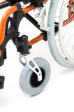 Leggero di alluminio, pieghevole, sedia a rotelle con l'unità di elaborazione spinge (AL-002)