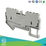 Tipo conectores eléctricos del resorte de los bloques de terminales Jut3-2.5/2-2