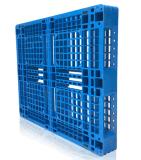 EU Standard Pallet 1200 * 1000 * 150mm HDPE Rack de palete de plástico resistente para carga 1ton Pallet para produtos de armazenamento de armazém (com 6 tubos de aço)