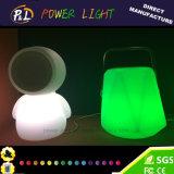 PEのLEDライトが付いている物質的な無線携帯用Bluetoothのスピーカー