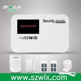Sistema de alarme sem fio com alerta da voz, sistema do assaltante da G/M de alarme Home com alarme G/M do APP