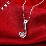 De in het groot ImitatieHalsband van de Tegenhanger van Juwelen Zilver Geplateerde in CZ