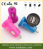 2 USB 5V 2.1Aの携帯電話の電気自動車の充電器の卸売の自在継手は二倍になる