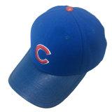 Gorra de béisbol azul del bordado del algodón