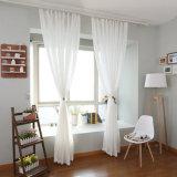 Lino puro del algodón del estilo Tela sólida de la cortina del voile