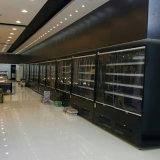 スーパーマーケットの飲み物は冷却のマーチャンダイザー冷却装置を開く