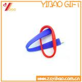 Bracelet coloré USB de silicones de logo fait sur commande chaud de vente