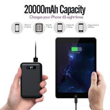 IPhone 20000mAh Portable Power Bank Charge com Smart LED Display