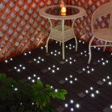 방수 대화식 LED 태양 빛 WPC 박층으로 이루어지는 갑판 마루 도와