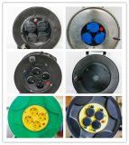IP44 y tomas de corriente eléctrica enchufe Schuko con cubierta para cables de los tambores