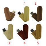 Bastone di legno del USB del USB di Pendrive di memoria del USB della parte girevole dell'azionamento di bambù dell'istantaneo