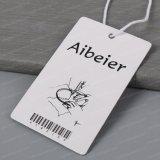 Tag rotondo di plastica di stampa del nome della carta del foro rotondo su ordinazione