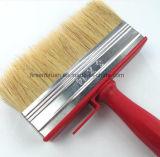 Profesional con cerdas naturales de plástico rojo de la manija de la pintura del cepillo de limpieza de techo bloque de escobillas