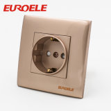 Nice Design Gold Color PC 2 Gang Wall Switch