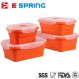 Four Pieces Silicone Storage Food Box One Set