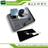 USB plástico do cartão de crédito da movimentação da impressão do Natal da cor cheia