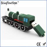 movimentação do flash do USB da forma do trem do projeto do PVC 3D (XH-USB-155)