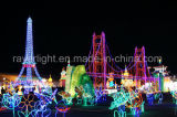 Decorazione esterna di grande del LED di motivo di illuminazione natale della Torre Eiffel