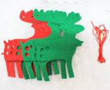 De Kerstmis Gevoelde Decoratie van de Boom en van Herten