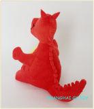 Embleem van de mascotte paste de Naar maat gemaakte Draak van de Pluche aan