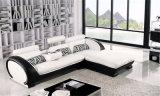 Sofà di cuoio nero domestico semplice moderno per la mobilia del salone (HC2013)