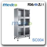 Медицинская нержавеющая сталь металлический шкаф для хранения данных для использования медицинского учреждения